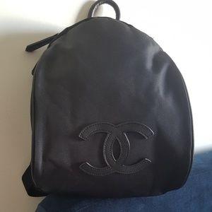 Authentic Chanel Black Nylon Backpack VIP Gif